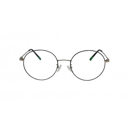 ROUND FASHION SPECTACLES FOR ADULT [SILVER]