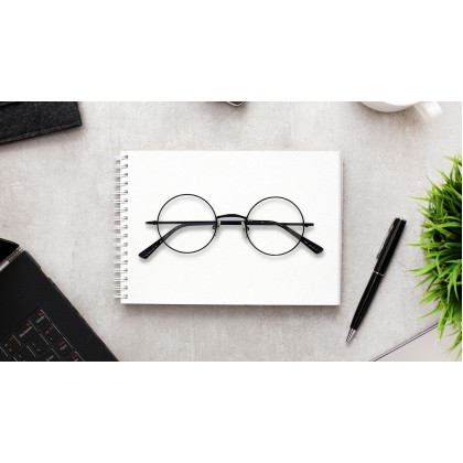 FASHION ROUND SPECTACLES FOR UNISEX (BLACK)