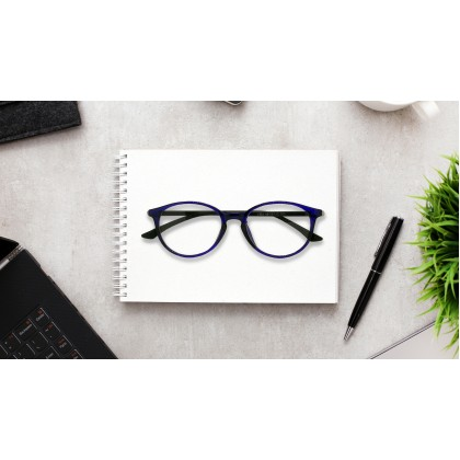 CASUAL ROUND SPECTACLES FOR UNISEX (BLUE)