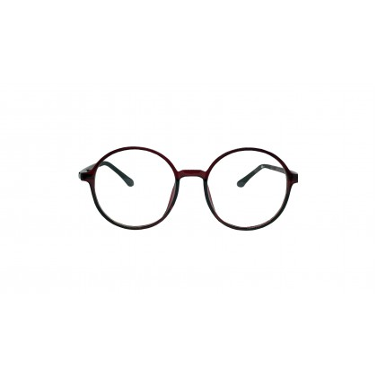 [ULTRA LIGHT] CASUAL ROUND SPECTACLES (RED)