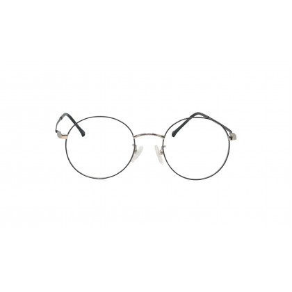 [METAL] FASHION DIAMOND SPECTACLES FOR UNISEX (SILVER)