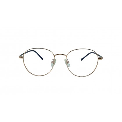 [LIMITED EDITION] FASHION ROUND SPECTACLES FOR UNISEX (GOLD)