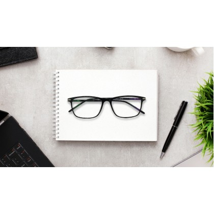 CASUAL RECTANGLE SPECTACLES (BLACK)